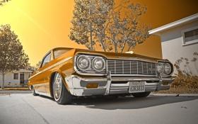 Картинка машина, фон, 1964 Chevy impala