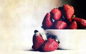 Картинка ягоды, фон, клубника