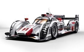 Обои Audi, Ауди, quattro, передок, гоночный болид, R18, e-Tron