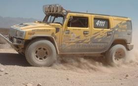 Обои Ралли, Hummer, Пустыня