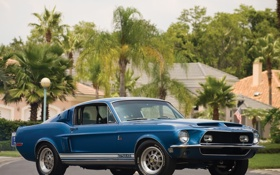 Обои Ford, Mustang, 1968 год, shelby, gt500