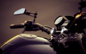 Картинка макро, руль, мотоцикл