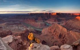 Картинка природа, скалы, каньон, река Колорадо, Подкова, Horseshoe Bend, Grand Canyon National Park