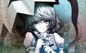 Обои девушка, улыбка, зонт, арт, touhou, tatara kogasa, eruza