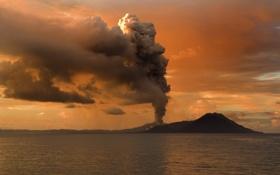 Обои обои, вулкан, Извержение, Тавурвур, Папуа — Новая Гвинея