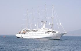 Картинка вода, парусник, мачты, круизное судно, Wind Surf