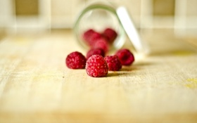 Картинка ягоды, малина, красные
