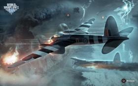 Картинка Wargaming Net, World of Warplanes, Мир Самолетов, WoWP, Mosquito, Тяжёлый Истребитель, De Havilland 98 Mosquito