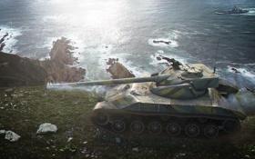Картинка Франция, корабль, танк, танки, France, WoT, Мир танков