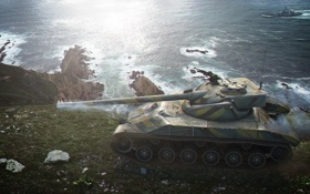 Обои Франция, корабль, танк, танки, France, WoT, Мир танков
