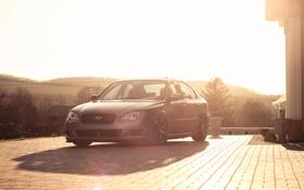 Обои silvery, Subaru, серебристый, субару, солнце, Legacy, блик