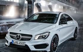 Картинка белый, Mercedes-Benz, мерседес, AMG, передок, CLA