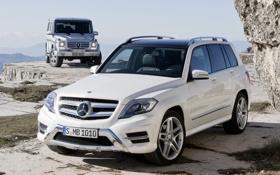 Обои белый, небо, скала, Mercedes-Benz, джип, внедорожник, мерседес