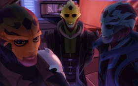 Картинка mass effect, art, Thane Krios, fan, Drell Assassin, Feron, Drell Information Trafficker