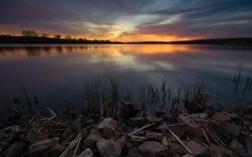 Обои озеро, USA, США, Illinois, Штат Иллинойс, Округ Кук, Cook County