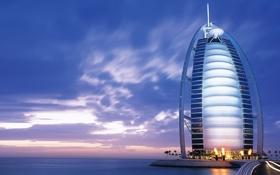 Обои море, Dubai, hotel, Burj Al Arab