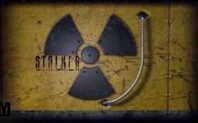 Обои знак, Радиация, метал, stalker, сталкер, S.T.A.L.K.E.R.