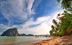 Картинка тропики, ocean, tropical, summer, море, берег, sea