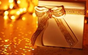 Обои праздник, Бантик, Новый Год, Рождество, подарки