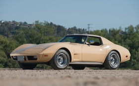 Обои Corvette, Chevrolet, шевроле, корвет, 1977