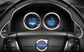 Обои Volvo, руль, v60, спидометр