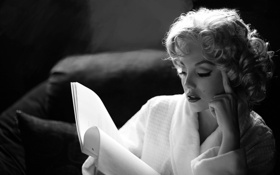 Картинка фото, фон, обои, чёрно-белое, Актриса, легенда, Marilyn Monroe