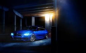 Обои синий, bmw, бмв, wheels, колоны, blue, 335i