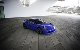 Обои фото, Porsche, Тюнинг, Голубой, Автомобиль, 2015, Club Coupe