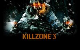 Обои снег, оружия, killzone 3, маска, солдаты