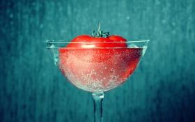 Картинка помидор, Бокал, пузыри