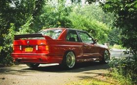 Картинка бмв, BMW, red, tuning, e30