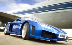 Обои Дорога, Синий, Машина, Движение, Машины, Car, Автомобиль