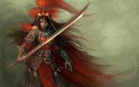 Картинка фентези, оружие, броня, плащ