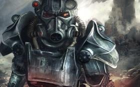 Обои фантастика, десант, арт. игра, Fallout-4, eddy shinjuku