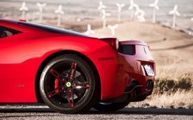 Картинка красный, тень, red, ferrari, феррари, италия, 458 italia