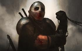 Обои dark, Warrior, mask