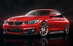 Картинка BMW, red, Coupe, front, 4 Series, F32, 435i