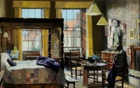 Обои живопись, 1935, painting, Mary, Elwell, картина