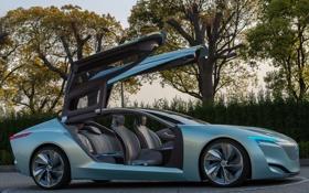 Обои Riviera, концепт кар, Buick, деревья, машина, Concept, двери