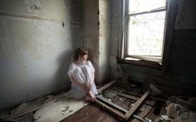 Картинка фон, девушка, комната