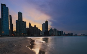 Картинка Чикаго, USA, США, Chicago, Illinois, Штат Иллинойс, Округ Кук