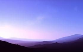 Картинка простор, облака, обои, небо, рассвет, горы