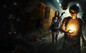 Картинка девушка, магия, темно, гитара, дух, арт, зло