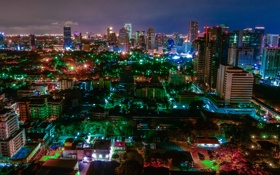 Картинка ночь, город, фото, дома, Таиланд, мегаполис, Bangkok
