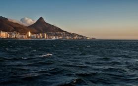 Картинка волны, горы, океан