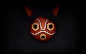 Картинка маска, mononoke hime, Принцесса Мононоке, Студия Гибли