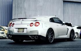 Обои серебристый, Nissan, GT-R, ниссан, silvery