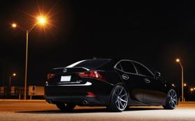 Картинка сзади, лексес, Lexus, 2014, IS250, черный, black
