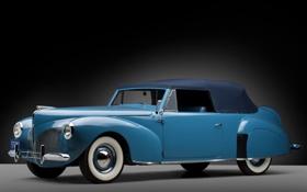 Обои Lincoln, ретро, Continental, кабриолет, полумрак, передок, Cabriolet