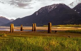 Обои пейзаж, горы, Canada, British Columbia, Mt Currie Indian Reserve